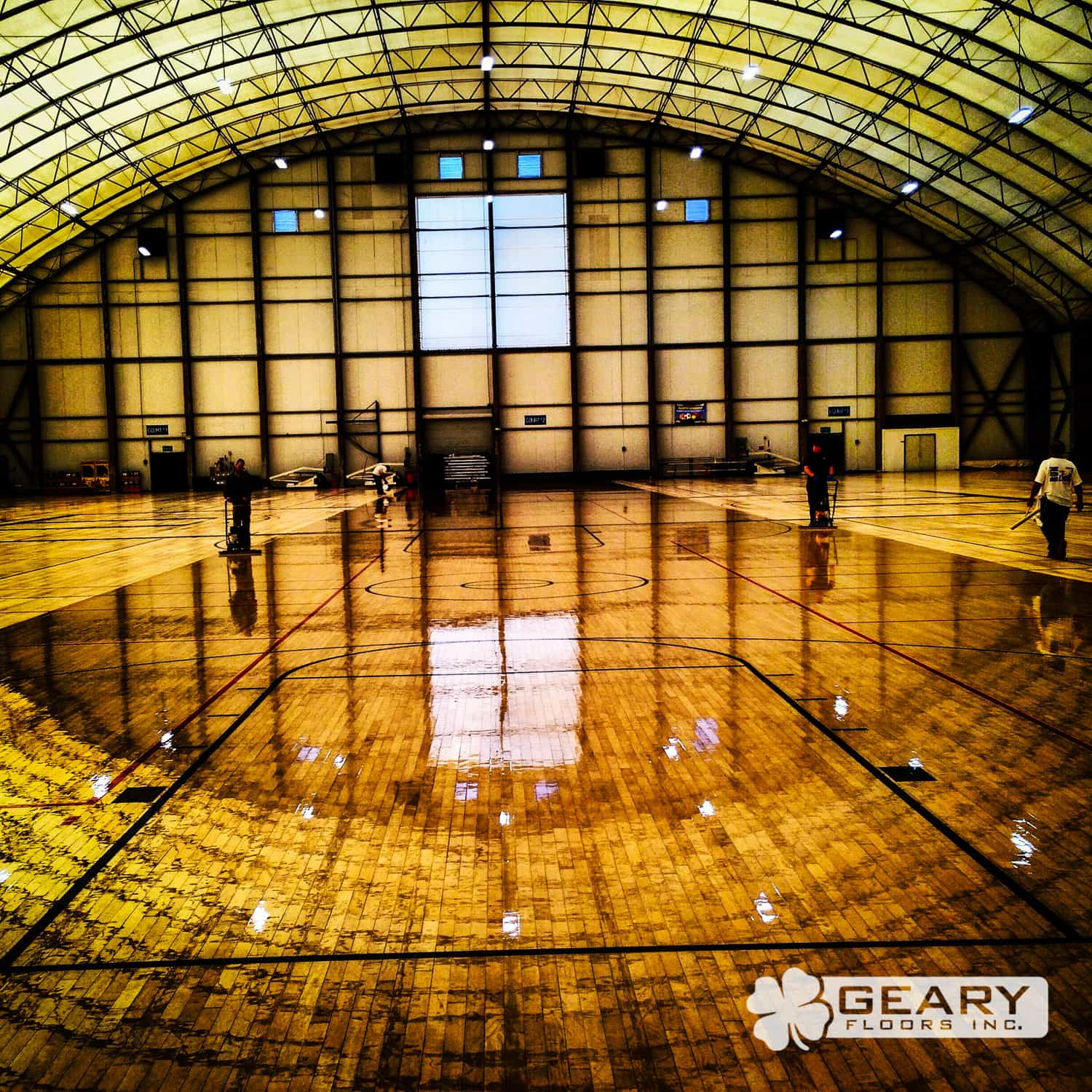 Geary Flooring Courts Athletic Flooring 593 - Basketball Court Flooring - Wood Gym Flooring - Hardwood Flooring San Diego
