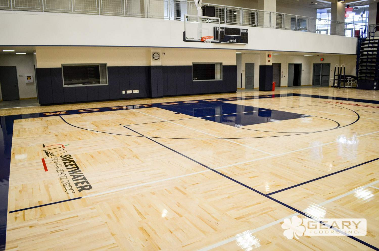 San Diego Athletic Flooring Geary Floors 21 0014 - Montgomery High School (San Diego, CA) - Hardwood Flooring San Diego