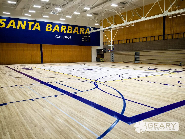 San Diego Athletic Flooring Geary Floors 29 0031 1 - University of California Santa Barbara: Robb Gymnasium - Hardwood Flooring San Diego