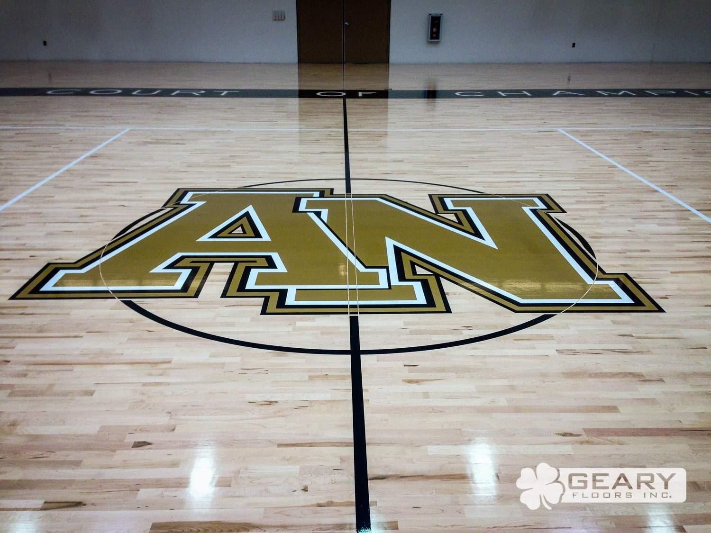 Geary Flooring Army Navy Athletic Flooring IMG 0027 - Army Navy Academy Event Center - Hardwood Flooring San Diego